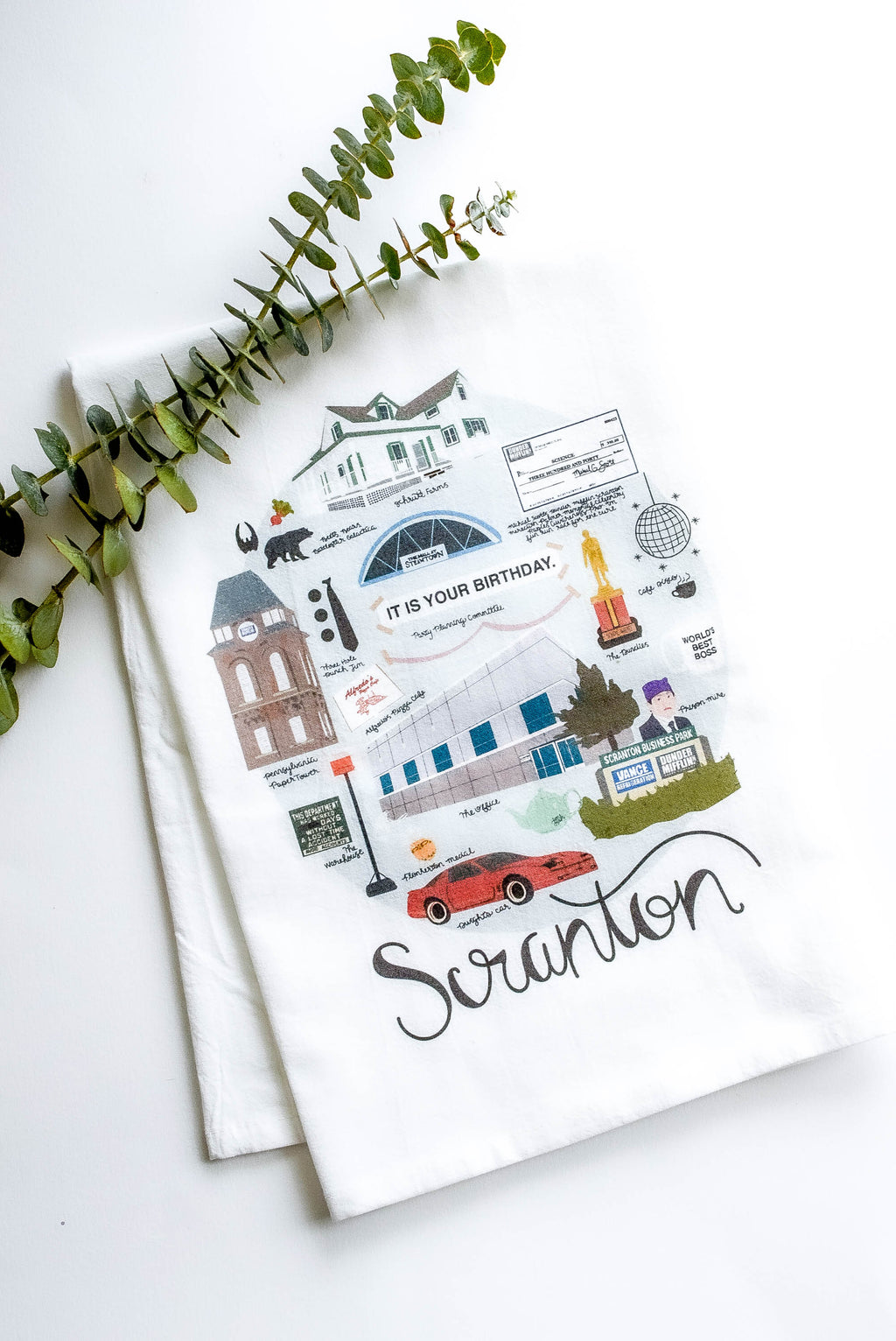 Scranton 'The Office' Tea Towel