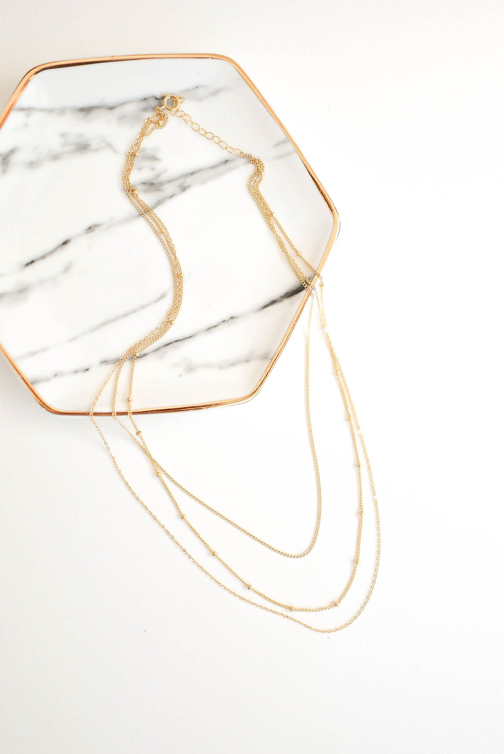 layered gold filled necklace