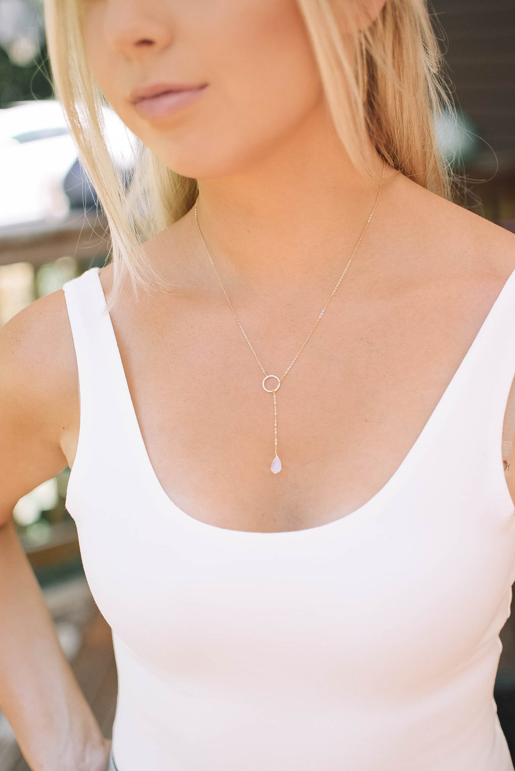Opal Pull Through Layering Necklace - Mint Pop Shop