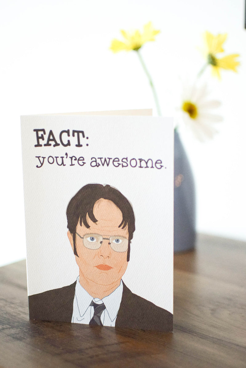 Dwight schrute the office card