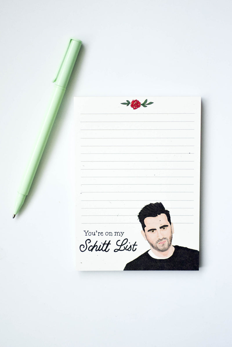 schitt's creek notepad