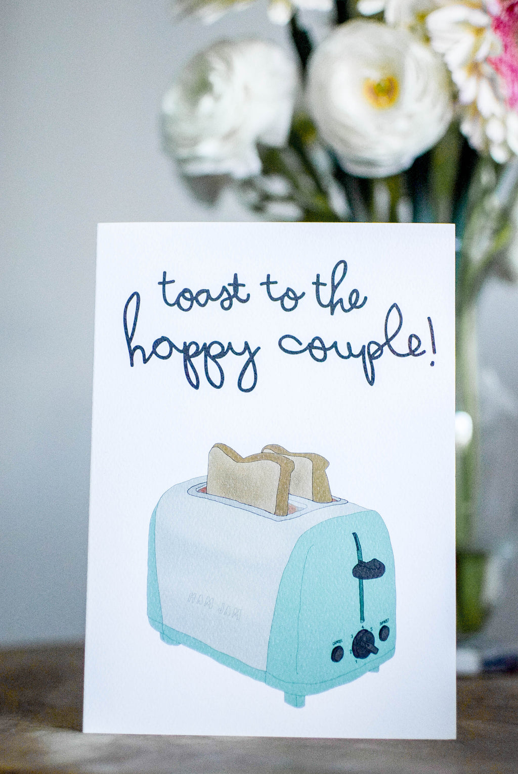 'Toast to the Happy Couple' Greeting Card