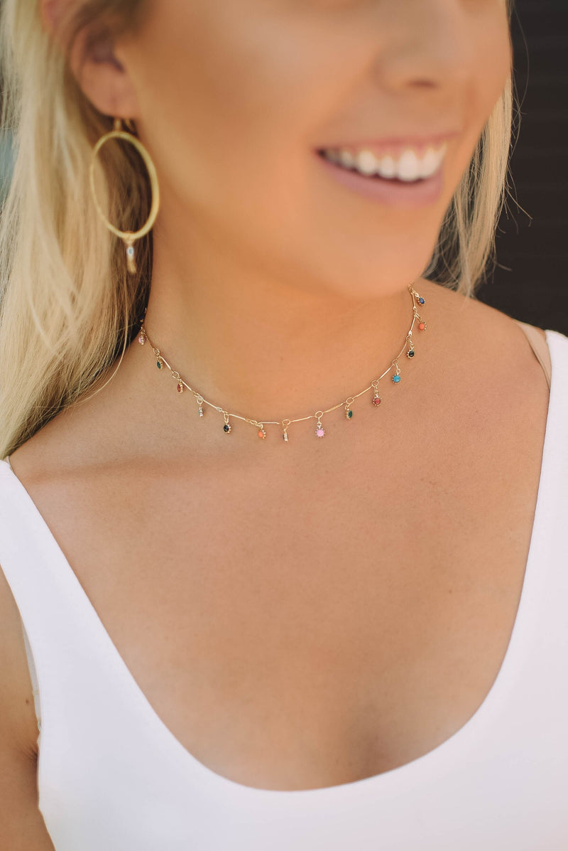 Fiesta Charm Choker - Mint Pop Shop