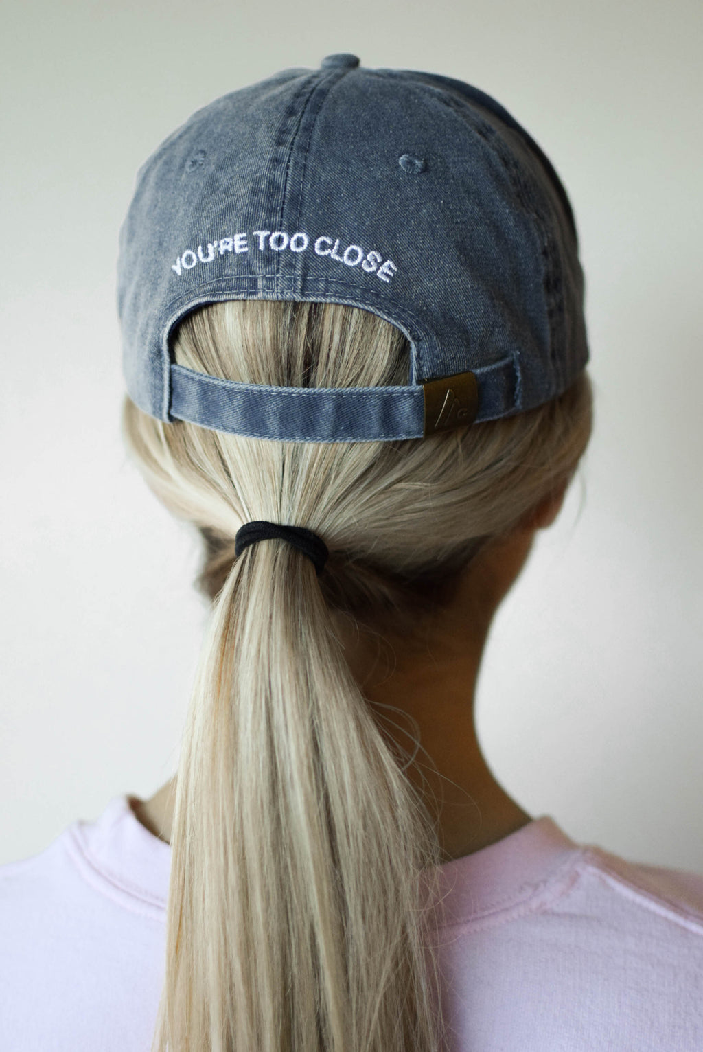 You're Too Close Baseball Hat - Vintage Blue