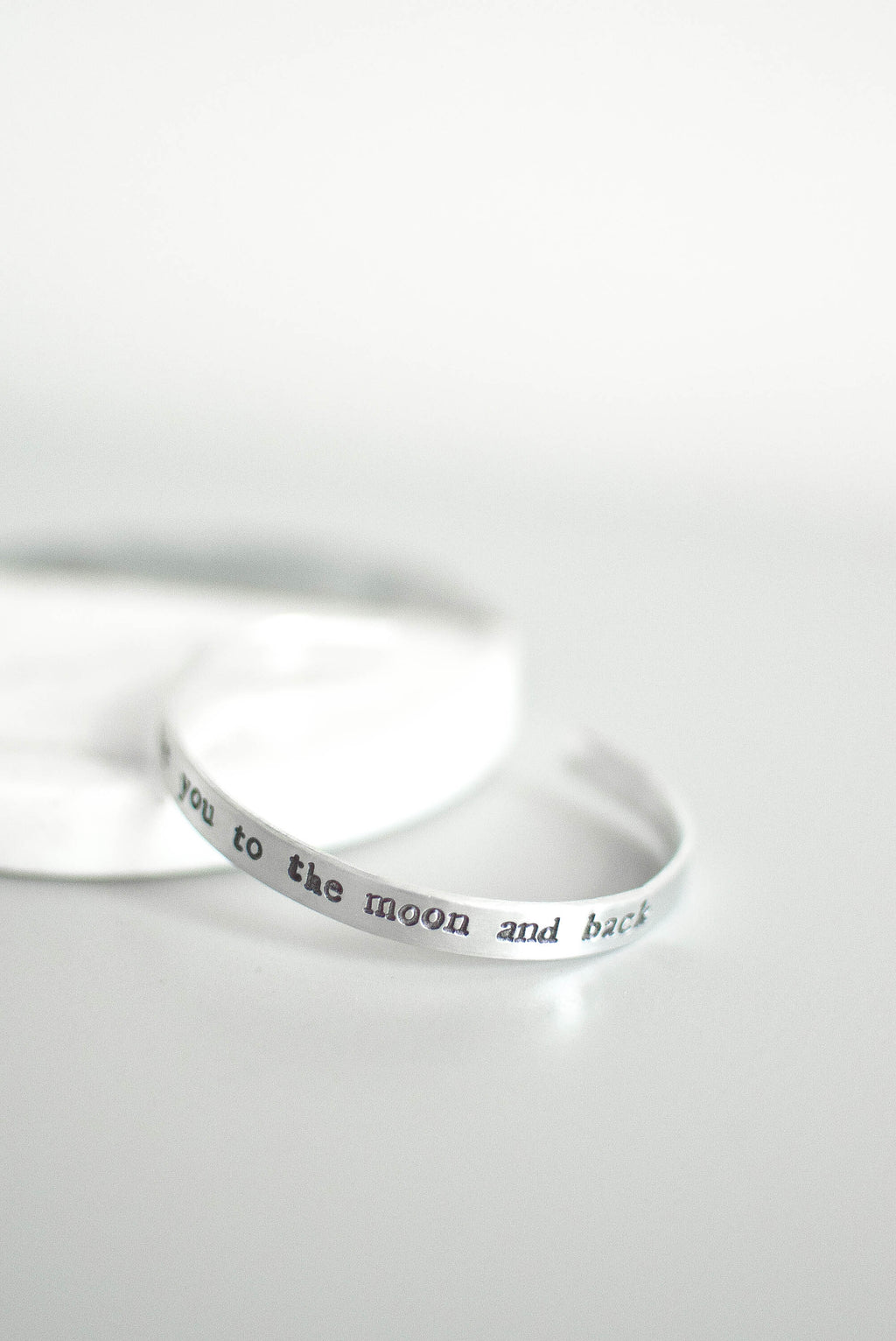 'Love You To The Moon And Back' Hand Stamped Bracelet