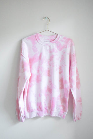 Pastel Tie Dye Sweatshirt - Storm Clouds - MEDIUM
