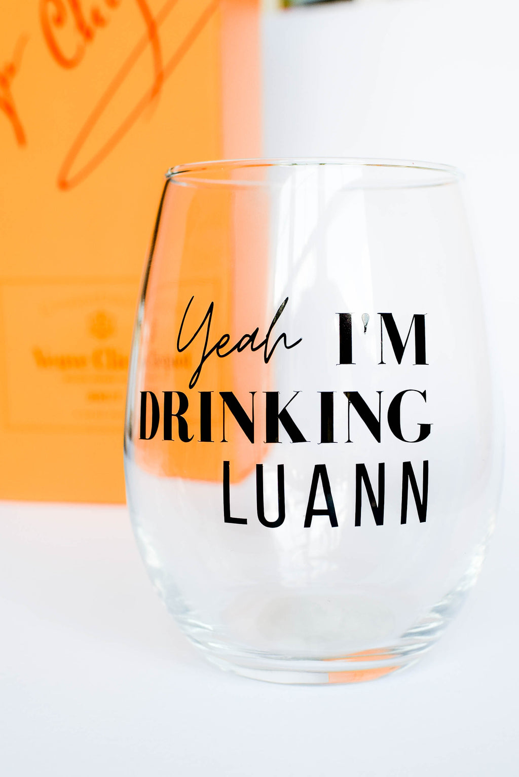 'Yeah I'm Drinking, Luann' - Bravo TV RHONY - Wine Glass