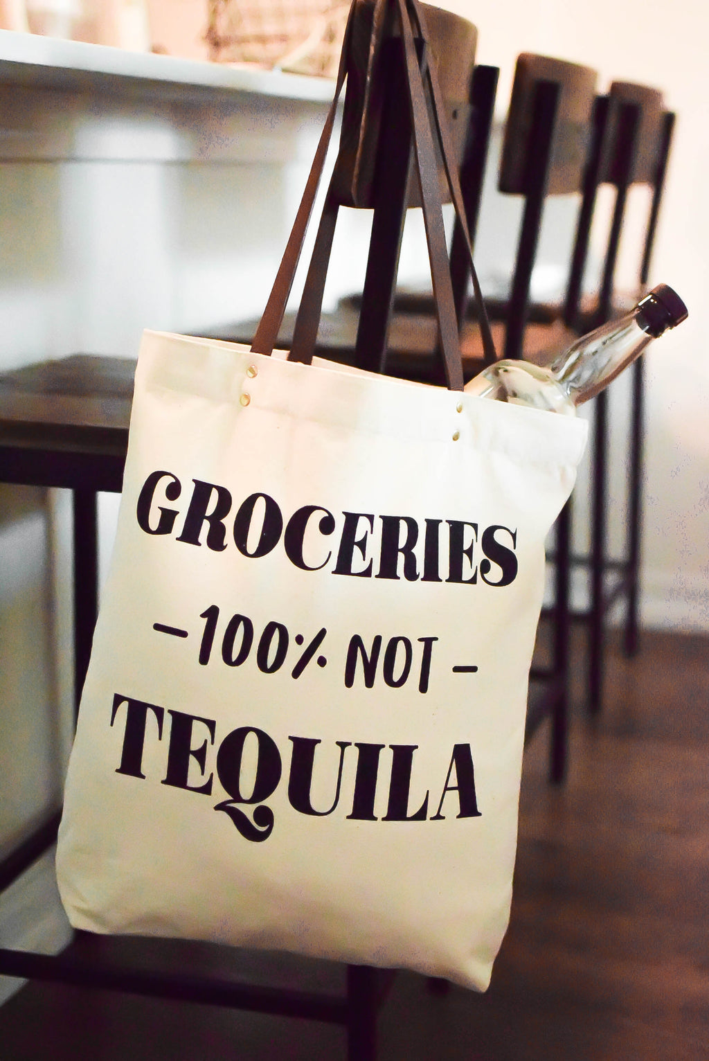 reusable canvas tote grocery bag