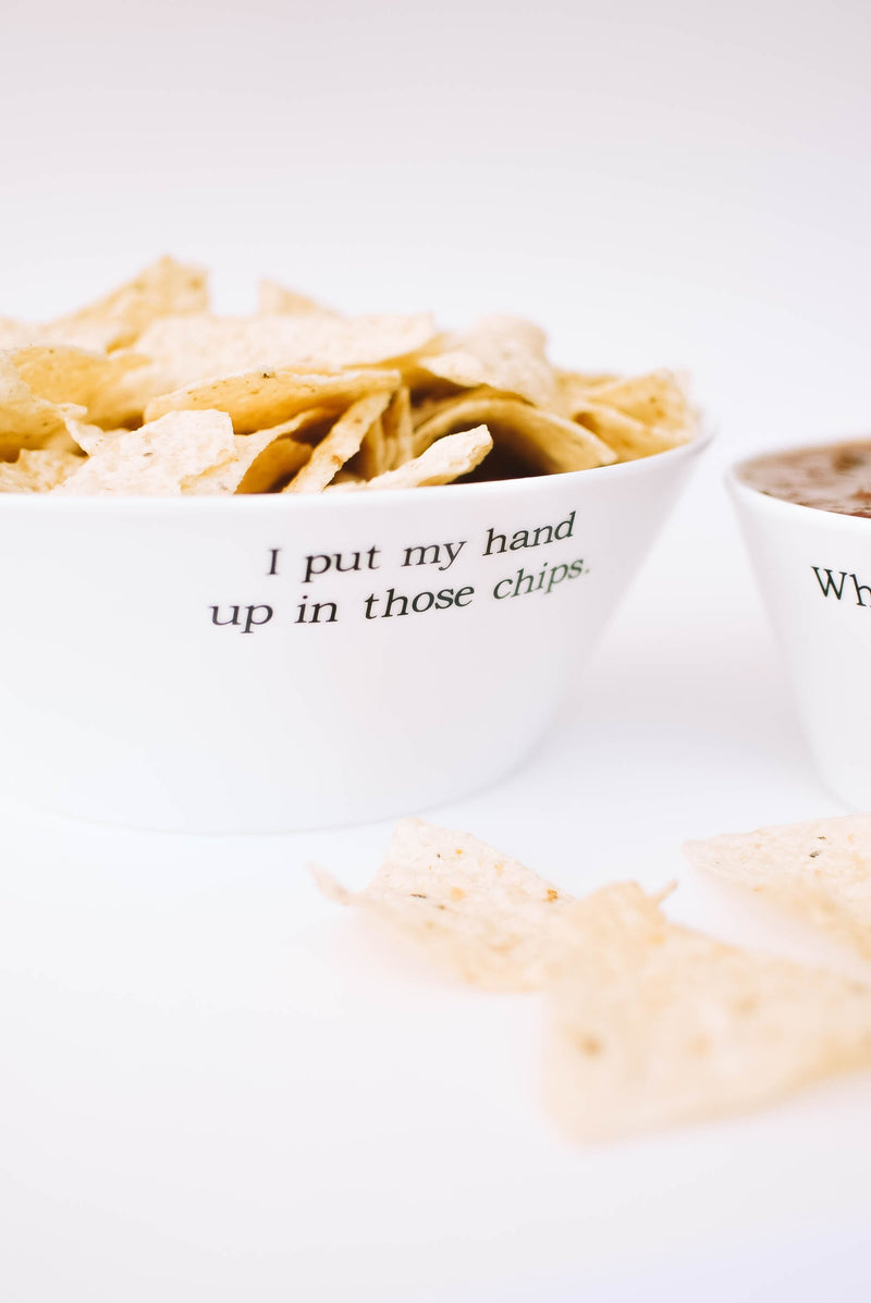 I Put My Hand Up In Those Chips - Large Bowl - Mint Pop Shop