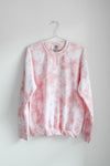 Pastel Tie Dye Sweatshirt - Blush Tan - MEDIUM