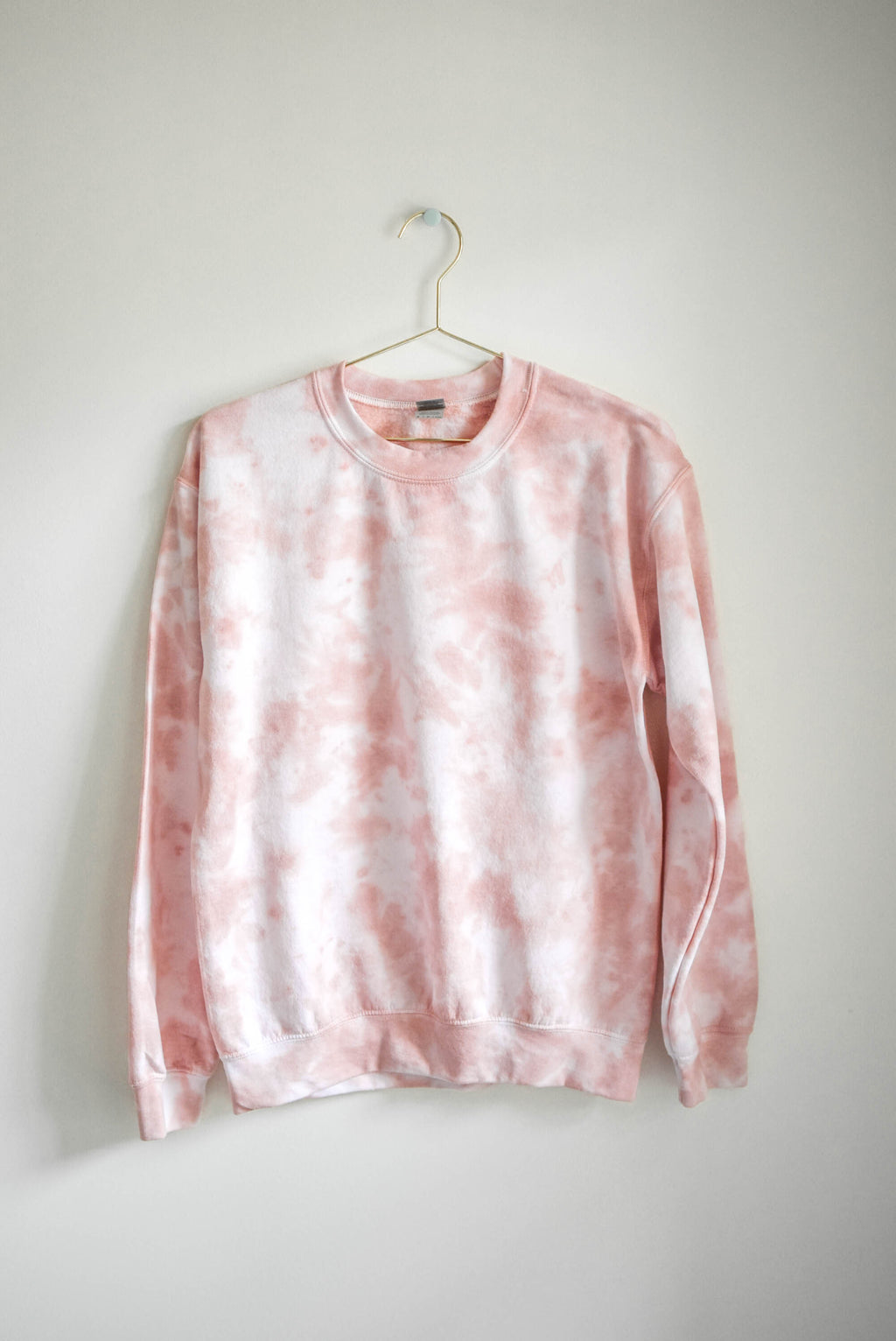 Pastel Tie Dye Sweatshirt - Tan Blush - SMALL