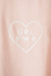 GRL PWR Heart T-Shirt - Breast Cancer Research