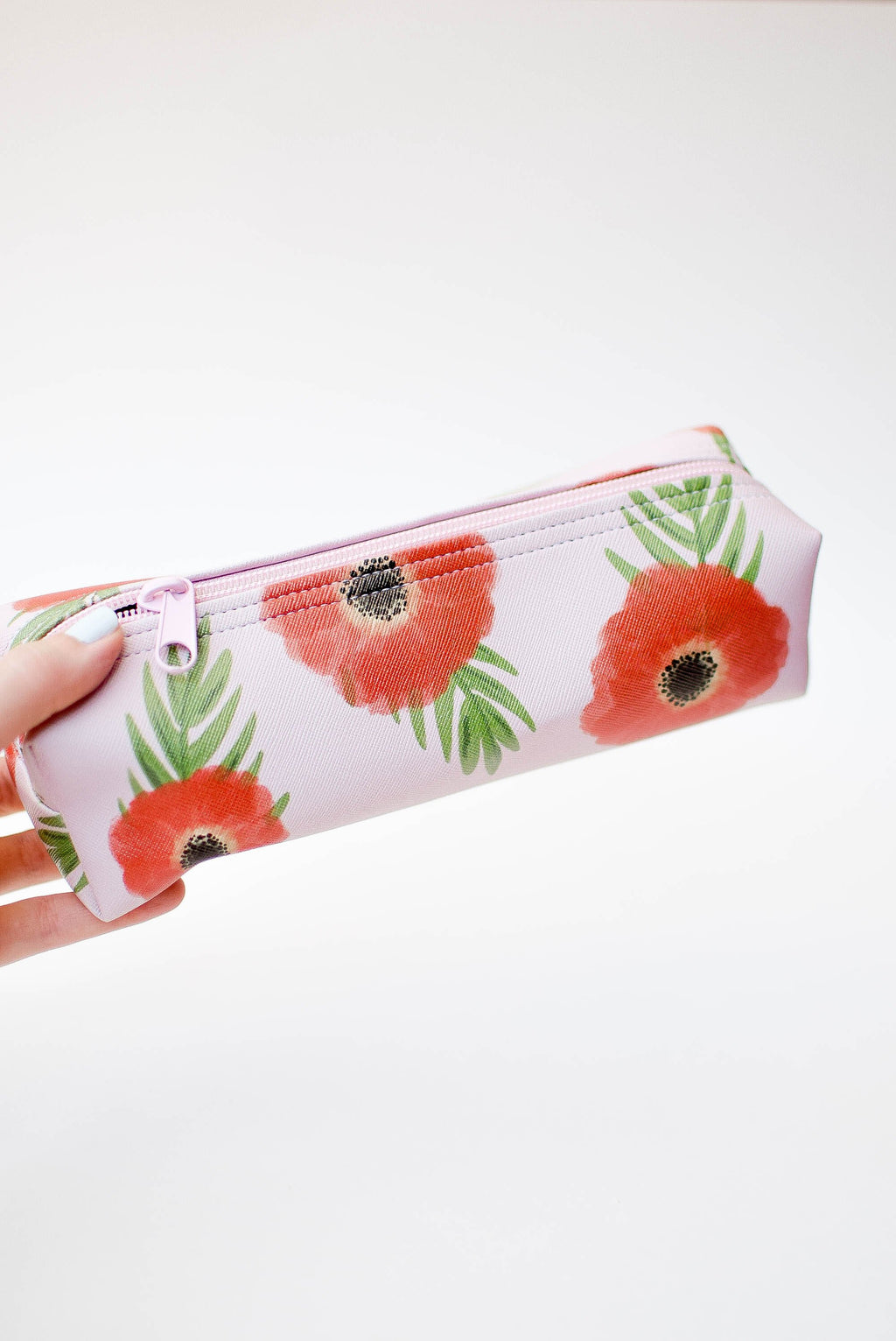 Poppies Mini Makeup Pouch - Mint Pop Shop