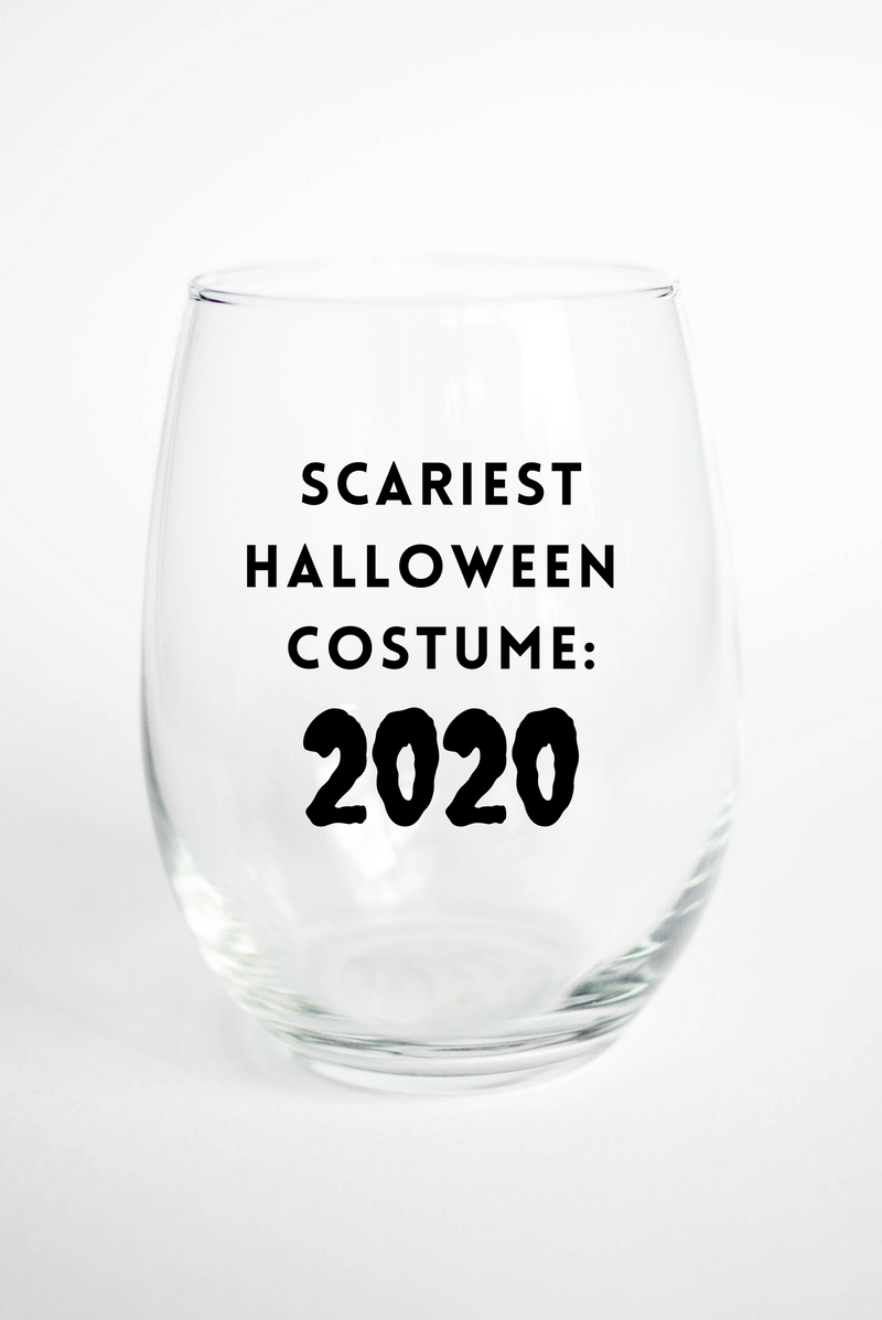 Scariest Costume: 2020 - Stemless Wine Glass