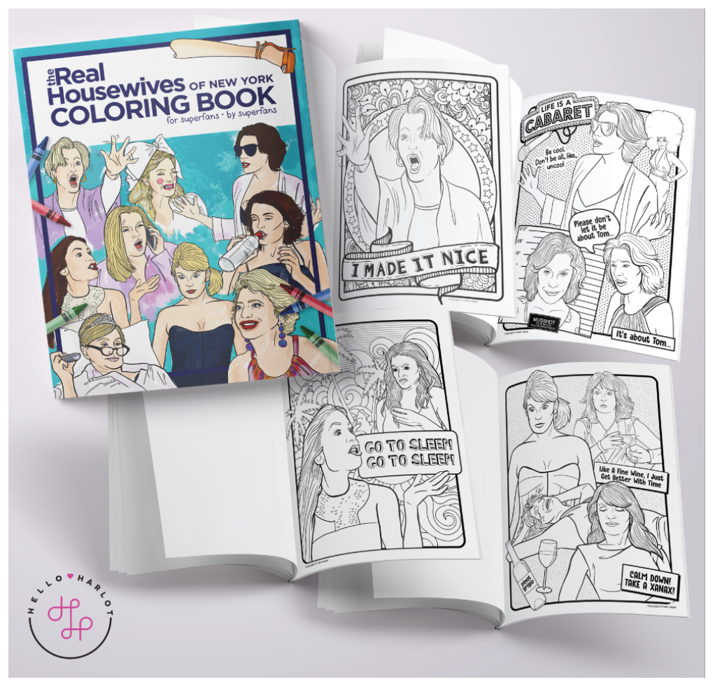 rhony bravo tv coloring book
