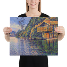 Load image into Gallery viewer, Dream Boat House near the lake, Canvas