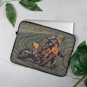 One day at a racing track Laptop Sleeve