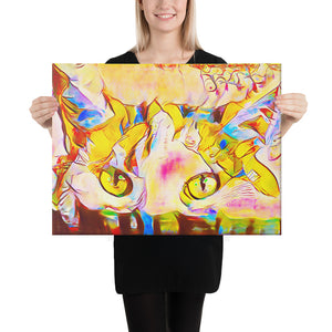 Colorful Abstract Cat, Canvas