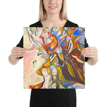 Load image into Gallery viewer, Beautiful Colorful Abstract Portrait, Canvas