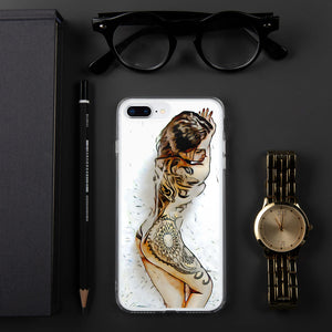 Flower Full Body Tattoo iPhone Case