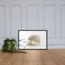Load image into Gallery viewer, Hedgehog, Framed poster
