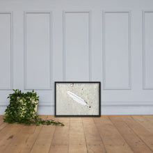 Load image into Gallery viewer, Lonely Feather Framed poster