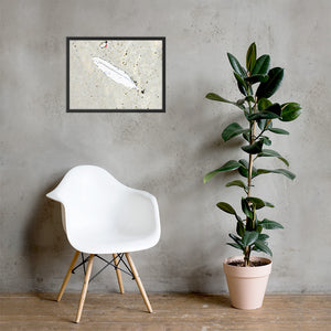 Lonely Feather Framed poster