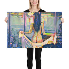 Load image into Gallery viewer, Beautiful naked woman with a scarf, Canvas