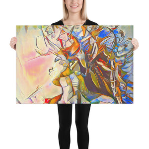 Beautiful Colorful Abstract Portrait, Canvas