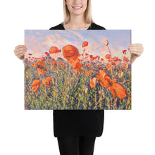 Load image into Gallery viewer, Popper Seed Flower Field, Canvas