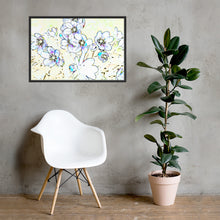 Load image into Gallery viewer, Colorful flower sketch, Framed poster