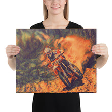 Load image into Gallery viewer, Fiery Dirtbike Racer, Canvas