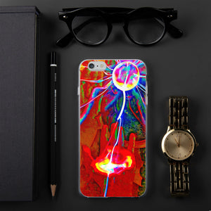 Colorful plasma ball iPhone Case
