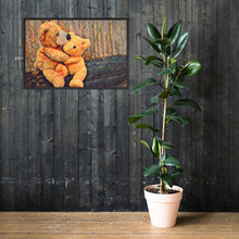 Load image into Gallery viewer, Teddy Bear, Framed poster
