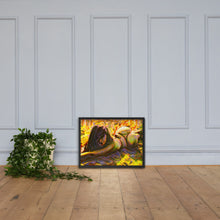 Load image into Gallery viewer, Relaxed on the sand, Framed poster