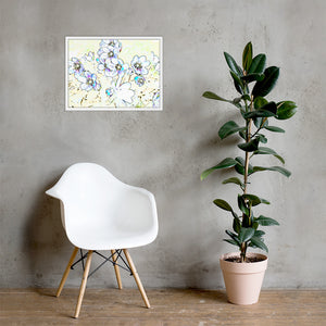 Colorful flower sketch, Framed poster