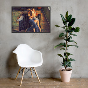 A couple in love, Framed poster