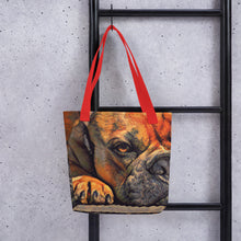 Load image into Gallery viewer, Resting dog painting tote bag