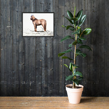 Load image into Gallery viewer, Abstract horse looking at You, Framed poster