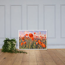Load image into Gallery viewer, Poppy Seed Flower Field, Framed poster