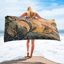 Load image into Gallery viewer, After a long day of playing Beach Towel
