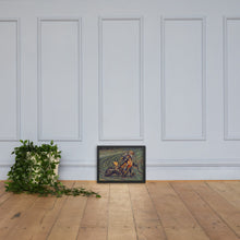 Load image into Gallery viewer, Bike Racer On a Track, Framed matte paper poster