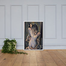 Load image into Gallery viewer, Nude woman with a mirror, Framed poster