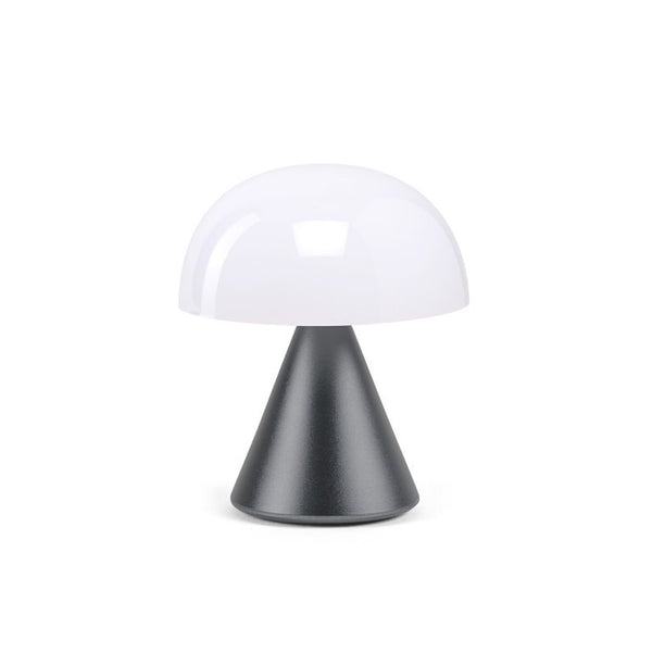 MINA Metallized Grey By Lexon,  Mini LED lamp.  Cool or warm white light, Rechargeable on USB-C port, New Arrivals, Espace Cannelle