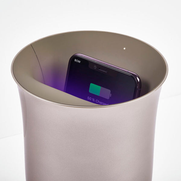 Oblio Silver Wireless Charger by Lexon