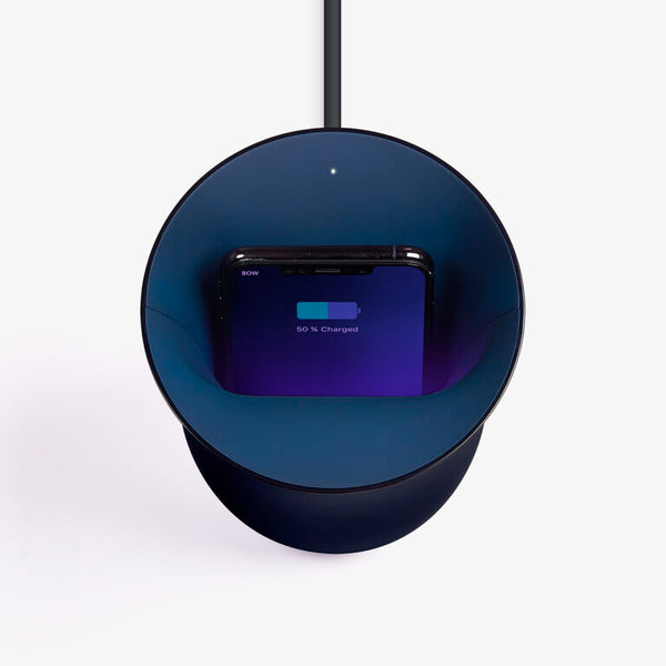 Oblio Blue Wireless Charger by Lexon
