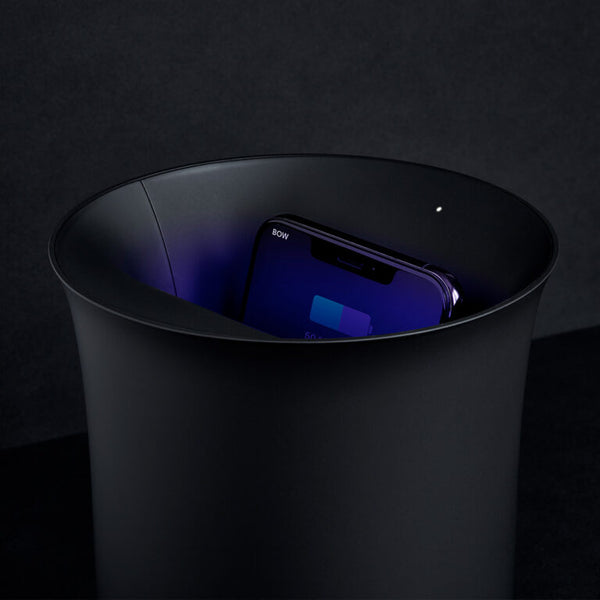 Oblio Black Wireless Charger by Lexon