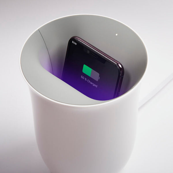 Oblio White Wireless Charger by Lexon
