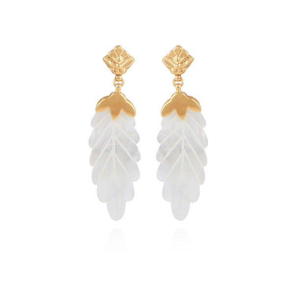 Feuille earrings by Gas Bijoux