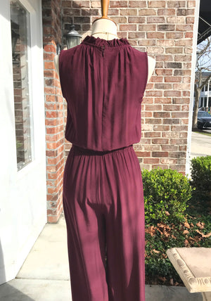 Vino Ruffle Neck Sleeveless Jumpsuit